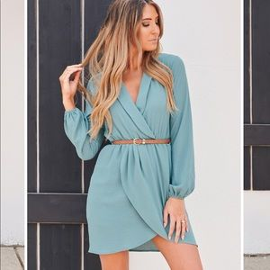 🆕WITH CONFIDENCE COLLARED DRESS (SEAFOAM) Dress